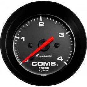 MANOMETRO CR PRES COMB 4KG 52MM STREET PRETO