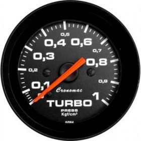 MANOMETRO CR PRES TURBO 1KG 52MM STREET PRETO