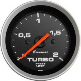 MANOMETRO CR PRES TURBO 2KG 52MM SPORT